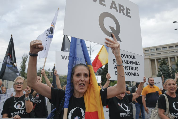 Romanian QAnon followers