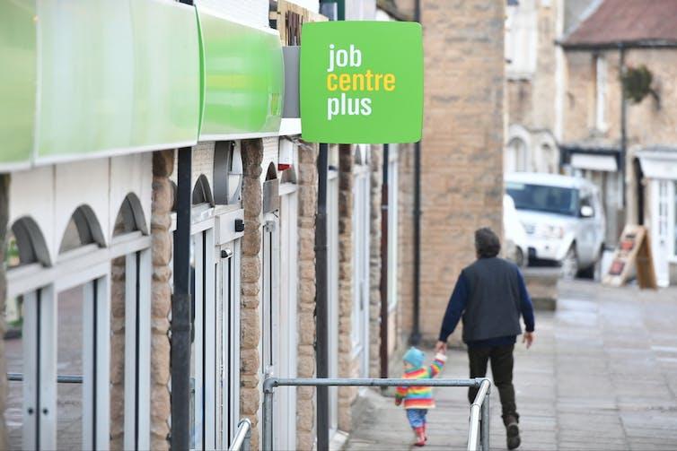 Man going into job centre