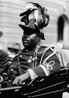 Black Nationalist leader Marcus Garvey