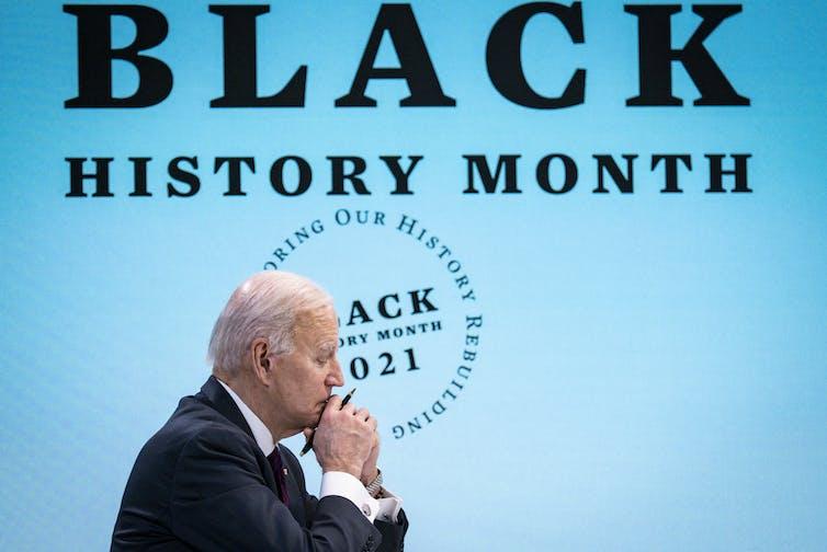 Joe Biden participa en un evento virtual para el Mes de la Historia Afroamericana