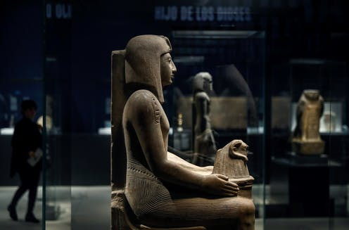 Egyptian statue in the British Museum.