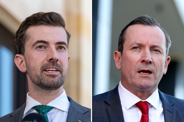 Portraits of Zak Kirkup and Mark McGowan.