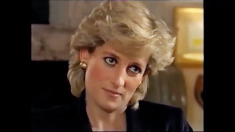 Still from The Diana Interview.