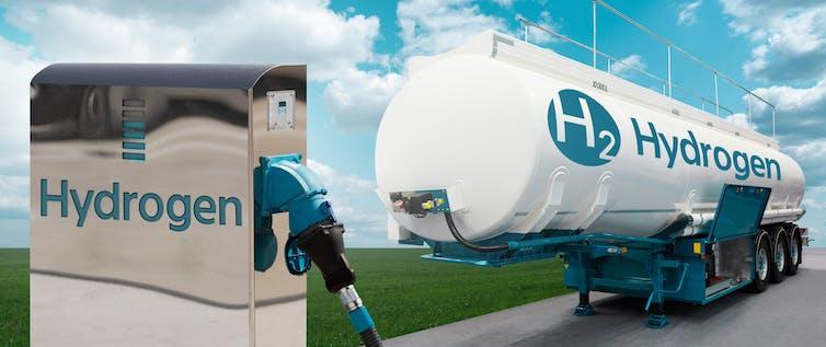 Hydrogen fuelling station and tanker