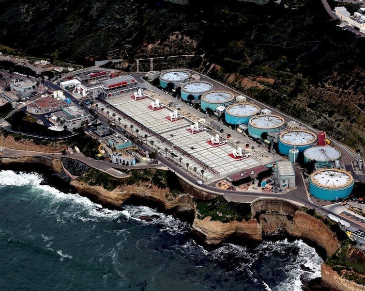 aerial view of Point Loma Wastewater Treatment Plant