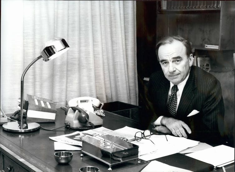 Murdoch at the Times in 1981.