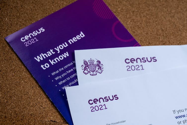 A letter and leaflet providing information on the 2021 census.