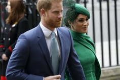 Harry and Meghan arrive at the annual Commonwealth Day service.