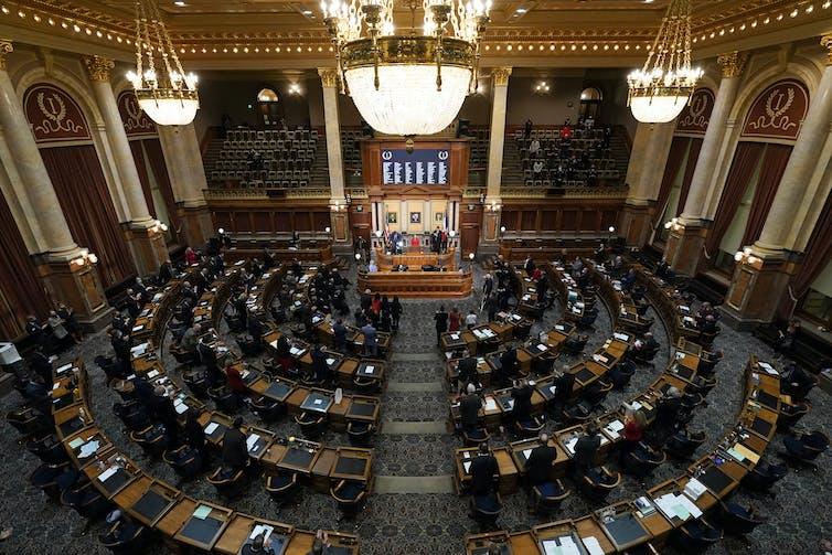 A joint session of the Iowa Legislature.