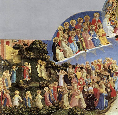 Fra Angelico's Last Judgment, dancing angels.