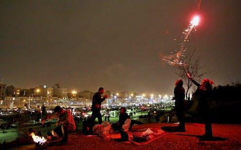 The celebration of Nowruz, Teheran, 2014