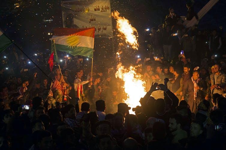 Celebrations for Nowruz, Iranian new year, Iraq, 2016