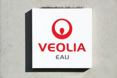 Veolia water logo on a wall