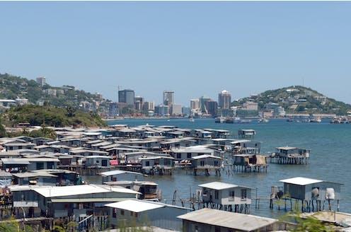 The Motu stilt village in Port Moresby