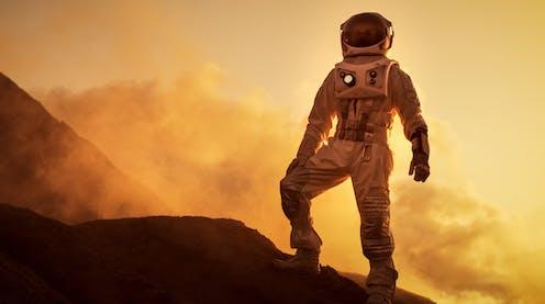 Image of an astronaut on Mars.