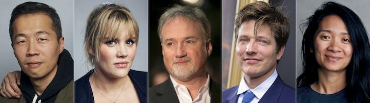 Head shots for five film directors