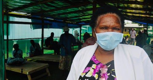 PNG woman wearing mask