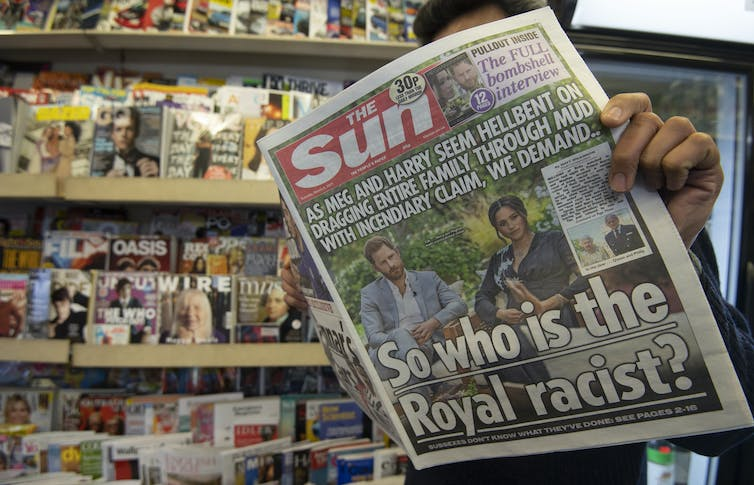 Front page of The Sun after the interview, 'So who is the Royal racist?'