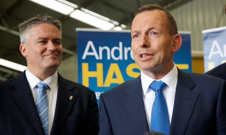 Mathias Cormann and Tony Abbott