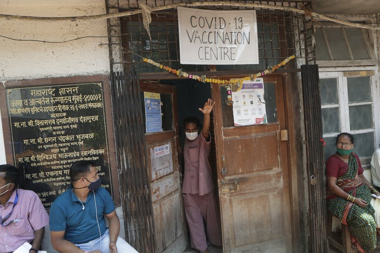 A vaccination centre in Mumbai, India, on March 10 2021.