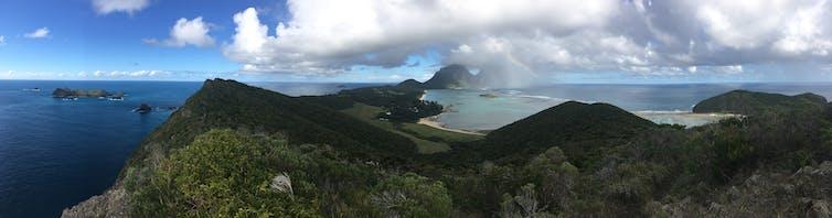 Panorama taken on Lord Howe Island