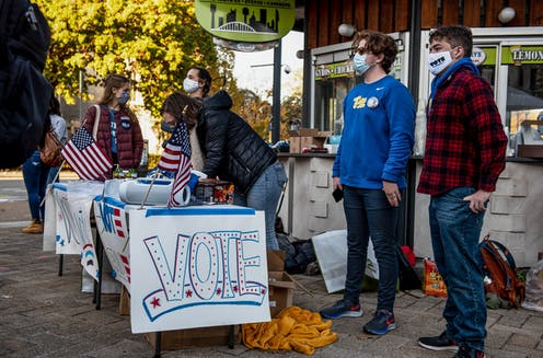 College students urge people to vote