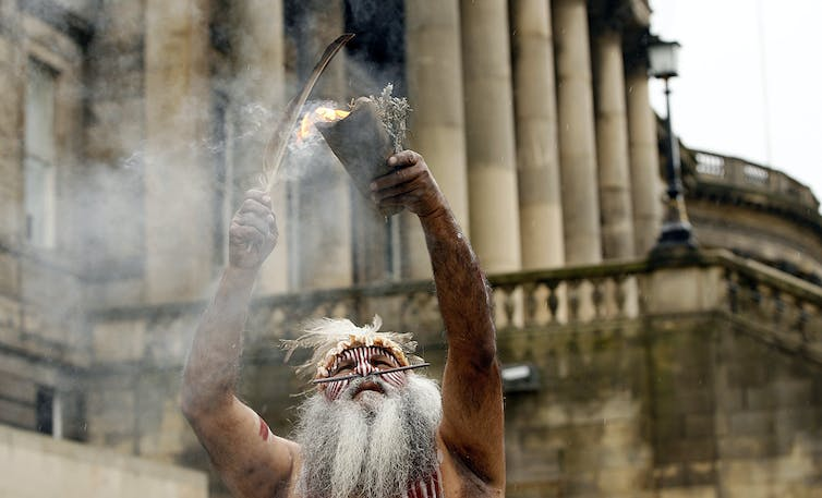A smoking ceremony.