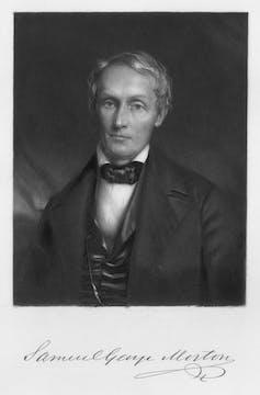 chest up portrait of Samuel Morton