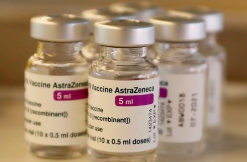 Vials of AstraZeneca vaccine
