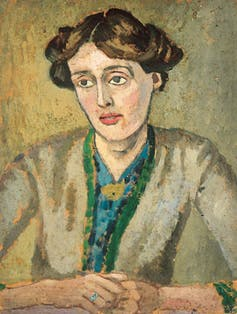 Painting of Virginia Woolf.