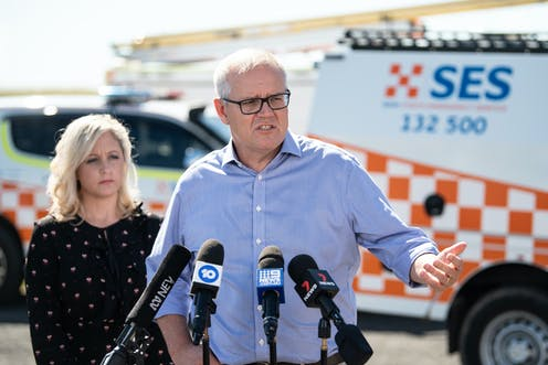 Prime Minister Scott Morrison visits flooded areas of NSW
