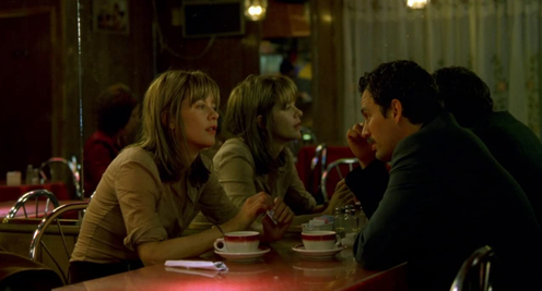 Two actors in diner