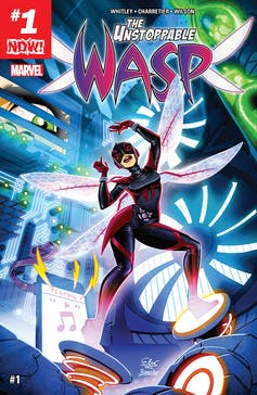 Front cover of the Unstoppable Wasp.