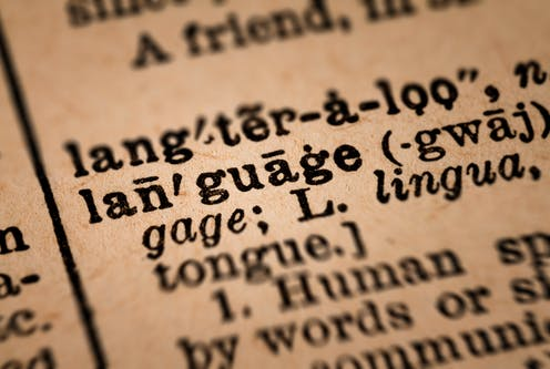 Old English dictionary definition of language.