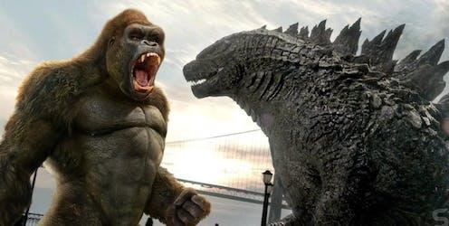 King Kong roars at Godzilla