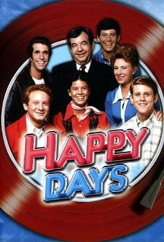 Poster featuring the cast of 'Happy Days'