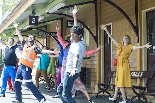 Bollywood dancing at a trainstation