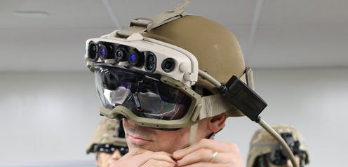 Soldier wearing HoloLens