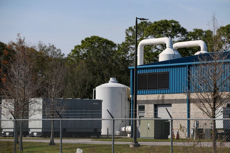 A water treatment facility