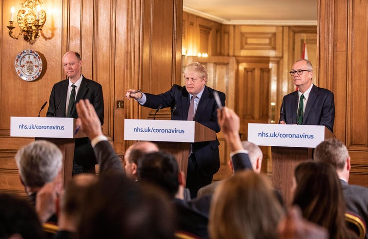 Boris Johnson holds a coronavirus briefing.