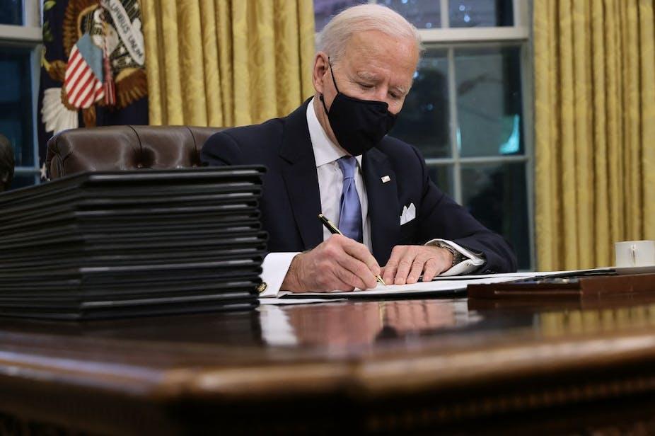 Joe Biden à la Maison-Blanche, le 20 janvier 2021.