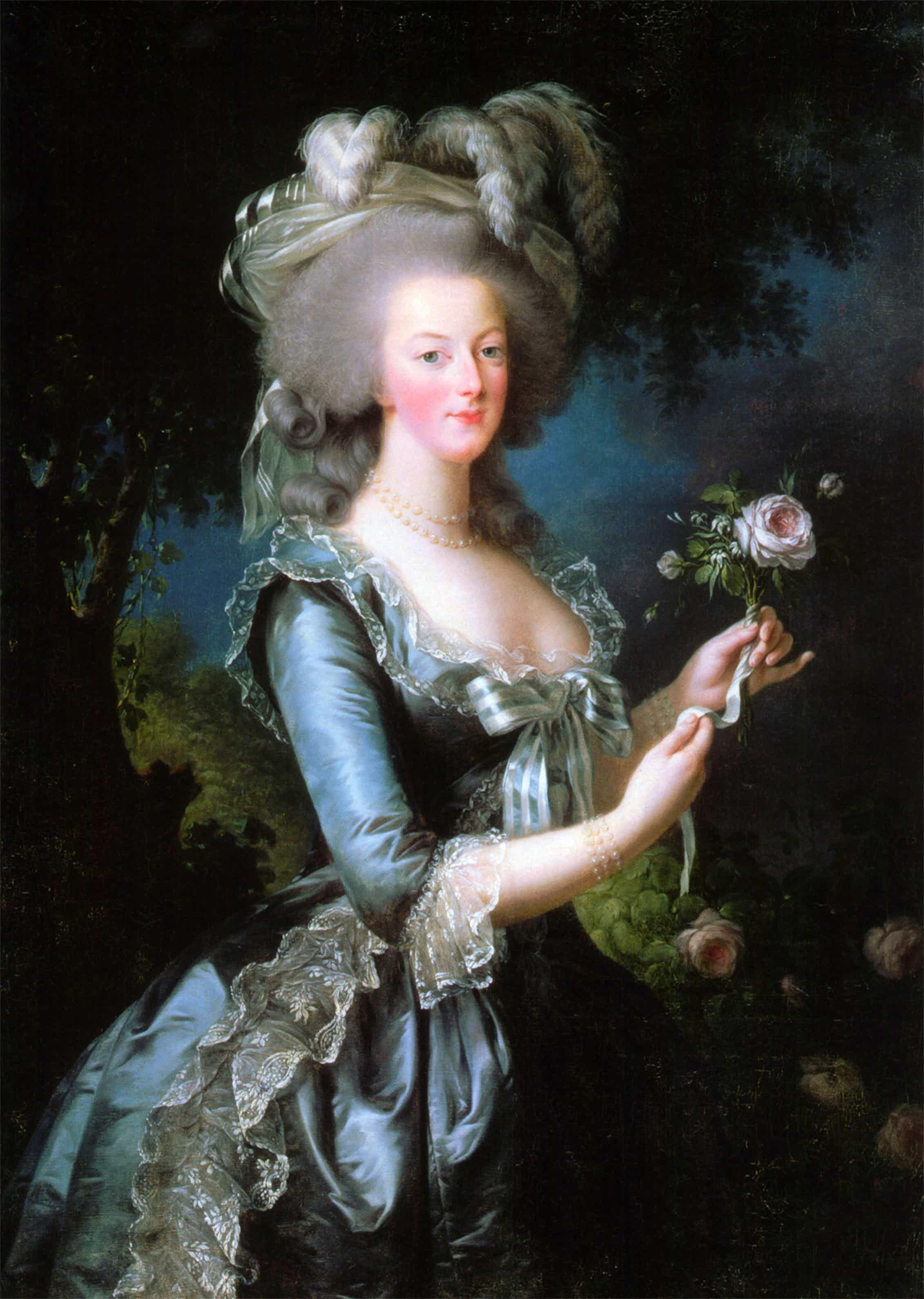 Maria Antonieta retratada por Élisabeth Louise Vigée Le Brun en 1783.Wikimedia Commons