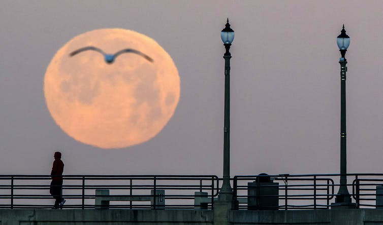 This supermoon has a twist