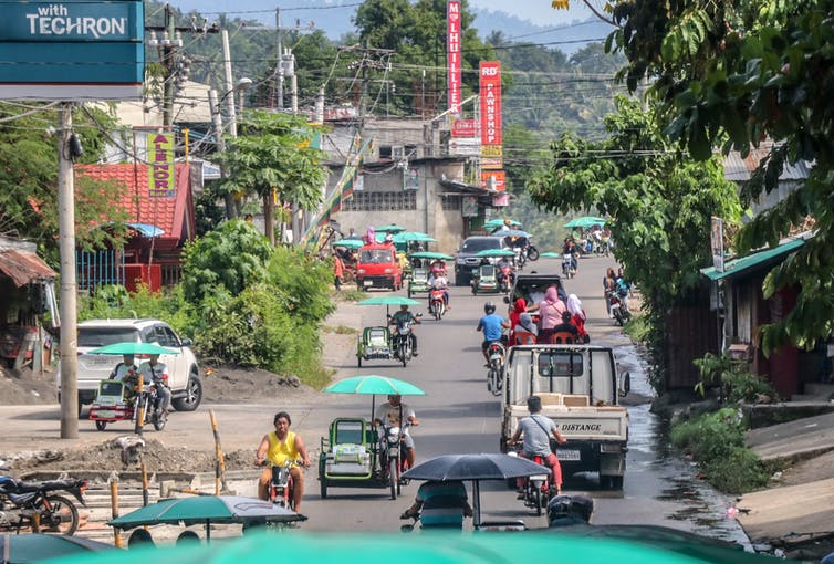 A street scene in the Mindanoa islands of the Philippines