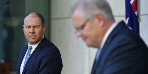 Australia's treasurer John Frydenberg and prime minister Scott Morrison