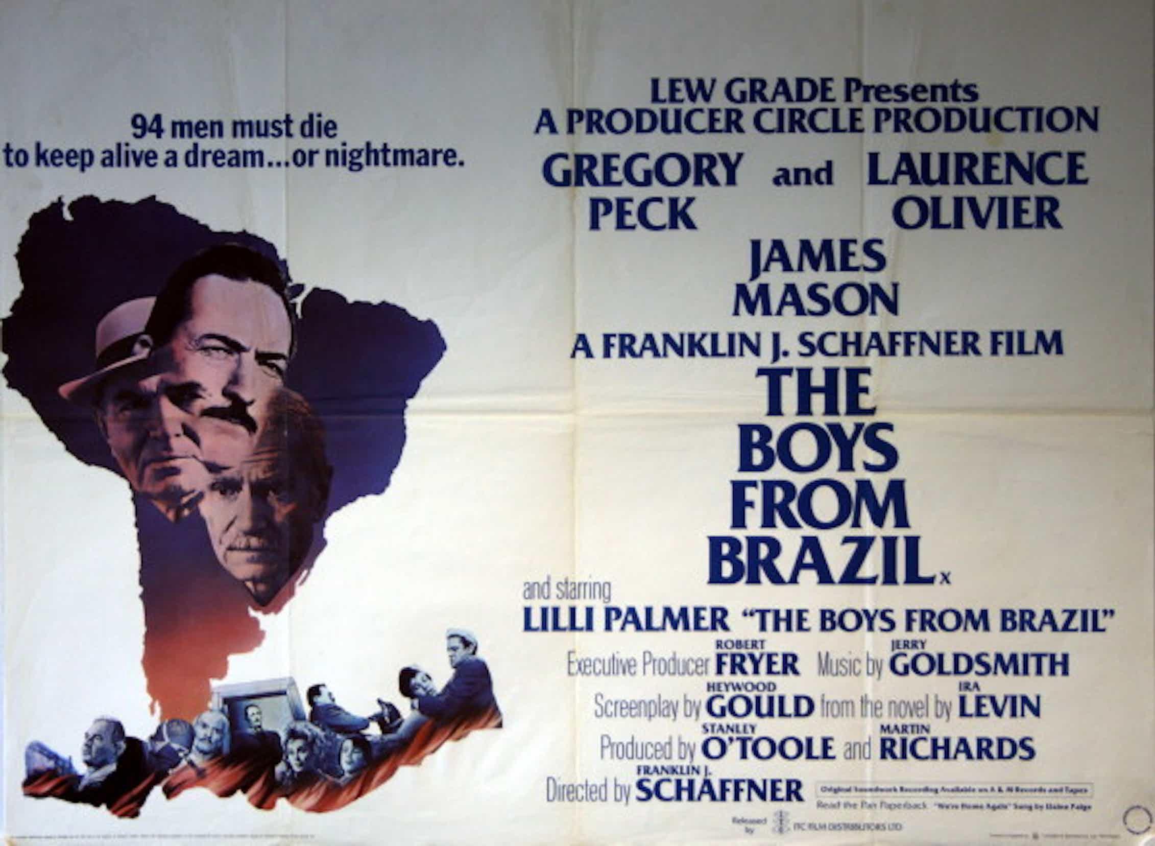 Cartel de la películaThe boys from Brazil(Los niños de Brasil), Franklin J. Schaffner, 1978.