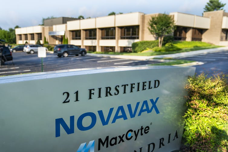 A general view of the Novavax headquarters, Maryland, USA.