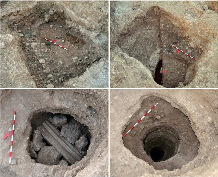 Excavations of a well.