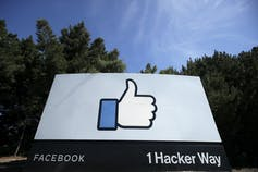 Facebook 'like' sign.