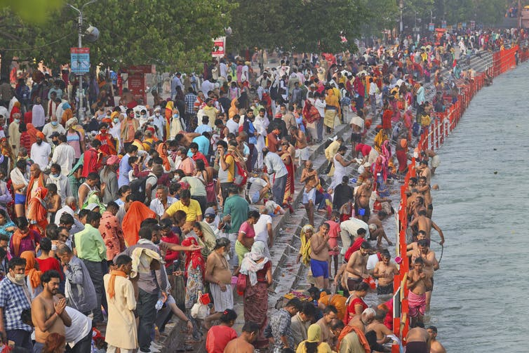 Millions take part in Hindu festival.